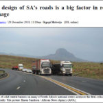 The design of SA's roads is a big factor in road carnage